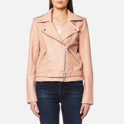 Gestuz Women's Zilla Leather Jacket Rugby Tan Pink