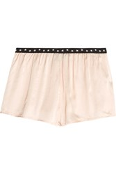 Love Stories Edie Satin Pajama Shorts Cream