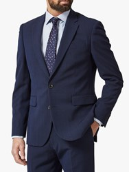 Chester Barrie By Prince Of Wales Check Travel Suit Jacket Navy