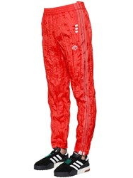 Adidas By Alexander Wang Aw Wrinkled Tech Tear Away Track Pants Orange