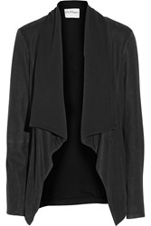 Dknypure Brushed Leather And Jersey Jacket Black