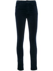 J Brand Maria High Rise Skinny Trousers Cotton Polyester Polyurethane Modal Blue