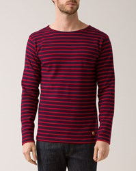 Armor Lux Red Marine Blue 2297 Heritage Sailor Top