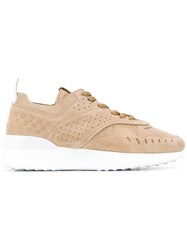 Tod's Perforated Sneakers Neutrals