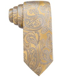 Countess Mara Men's Morris Paisley Classic Tie Yellow