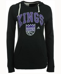 Adidas Women's Sacramento Kings Mesh Arch Hooded Sweatshirt Gray