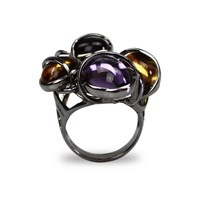 Bellus Domina Citrine And Amethyst Paradizo Ring