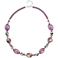 Martick Twist Murano Glass Necklace Plum Multi