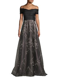 Rene Ruiz Off Shoulder Gown Black