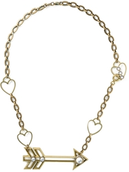 Lanvin Arrow And Heart Necklace Metallic