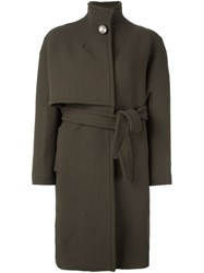 Gianluca Capannolo Belted Coat Green
