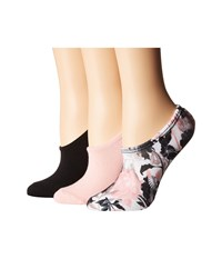Converse 3 Pack Linear Floral Print Made For Chuck White Pink Black Low Cut Socks Shoes