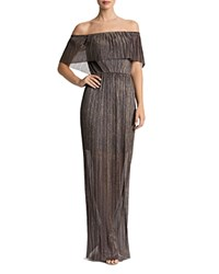 Dress The Population Athena Strapless Gown Bronze Gold