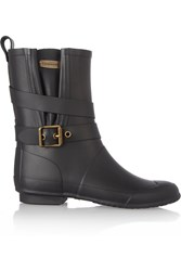 Burberry Biker Style Wellington Boots Black