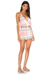 Young Fabulous And Broke Hollie Romper Gray
