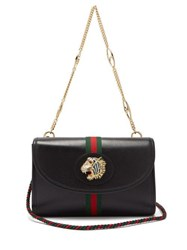 Gucci Rajah Small Leather Cross Body Bag Black Multi