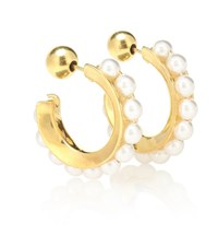 Sophie Buhai 18Kt Gold Plated And Faux Pearl Hoop Earrings