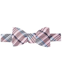 Brooks Brothers Plaid To Tie Bow Tie Pink