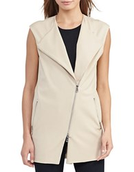 Lauren Ralph Lauren Cotton Blend Roundneck Vest Pale Wheat