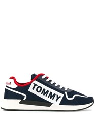 Tommy Jeans Logo Panelled Sneakers Blue