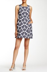 Orla Kiely Floral Jacquard Pinafore Dress Blue