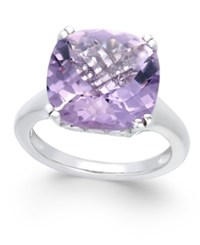 Macy's Pink Amethyst Solitaire Ring 8 1 2 Ct. T.W. In Sterling Silver