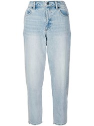 Alexander Wang Cropped Jeans Cotton Blue