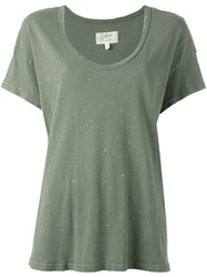 Current Elliott Slouchy Scoop T Shirt Green
