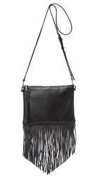 Rebecca Minkoff Fringe Jon Cross Body Bag Black