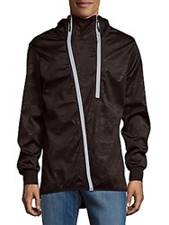 American Stitch Camouflage Zippered Jacket Black