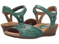 Earth Ibis Teal Soft Calf Women's Wedge Shoes Green