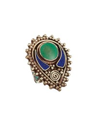 Devon Leigh Lapis And Turquoise Ring