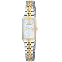 Citizen Eg2694 59D Women's Eco Drive Silhouette Bracelet Strap Watch Silver Gold