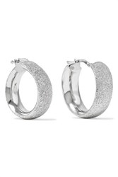 Carolina Bucci Florentine 18 Karat White Gold Hoop Earrings One Size