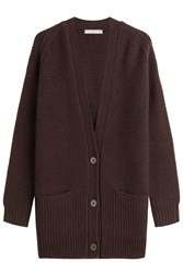 Vince Wool And Cashmere Cardigan Red