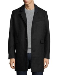 Penguin Wool Blend Button Front Jacket Gray