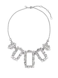 Alexis Bittar Miss Havisham Open Framed Bib Necklace Silver