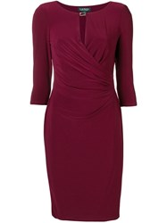 Ralph Lauren Ruched Fitted Dress Red