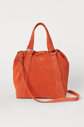 Handm H M Small Suede Shopper Orange