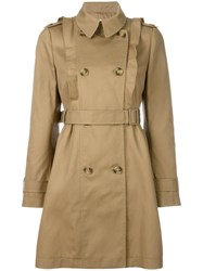 Red Valentino Double Breasted Trench Coat Nude Neutrals