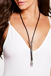 Boohoo Western Animal Plunge Necklace Silver