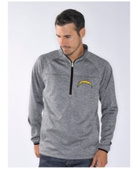 G3 Sports Men's San Diego Chargers Franchise Quarter Zip Pullover Gray