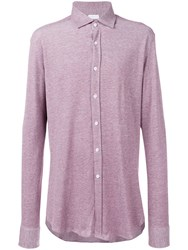 Harris Wharf London Slim Fit Shirt Purple