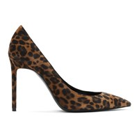 Saint Laurent Brown Leopard Anja Heels