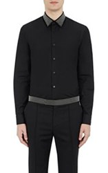 Alexander Mcqueen Studded Collar Shirt Black