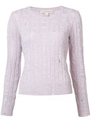 Marc Jacobs Cable Knit Hole Sweater Pink Purple
