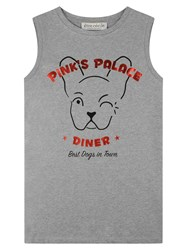Etre Cecile Pink's Palace Diner Oversized Tank Grey