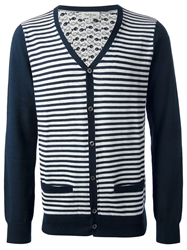 Paul And Joe Striped Cardigan Blue