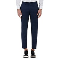 Brooklyn Tailors Men's Plaid Trousers Blue