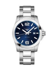 Longines Two Tonal Stainless Steel Bracelet Watch No Color